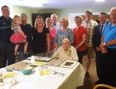 Sen. Brewster Attends James McLaughlin's 100th Birthday Party :: August 24, 2018
