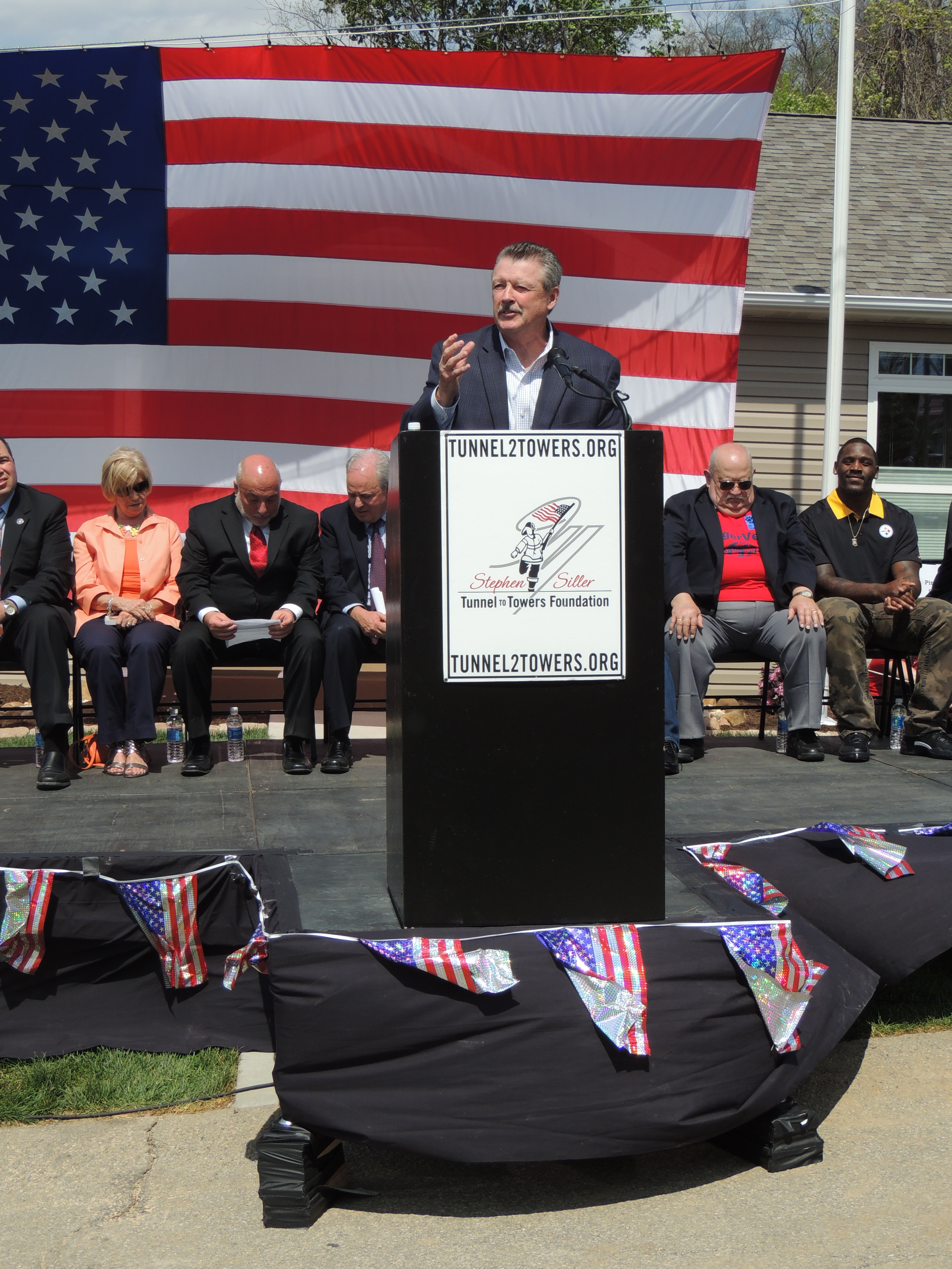 Senator Brewster Attends The Stephen Siller Tunnel to Towers Foundation Home Dedication to US Army SSG Michelle Satterfield :: April 25, 2016