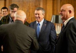Senator Jim Brewster attends Sunday Hunting Bill Signing in Pennsylvania State Capitol :: December 17, 2019