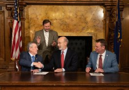 Senator Jim Brewster attends Sunday Hunting Bill Signing in Pennsylvania State Capitol :: December 17, 2019