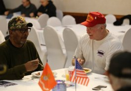 November 8. 2019: Sen. Brewster Hosts Veterans Breakfast at American Legion, White Oak
