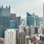 Pittsburgh skyline with UPMC and Highmark buildings