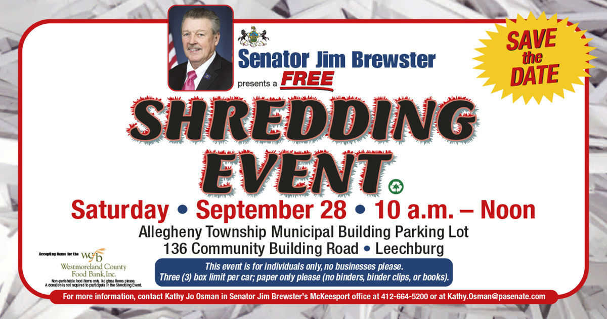 Brewster to Hold Shredding Event on Saturday in Allegheny Township
