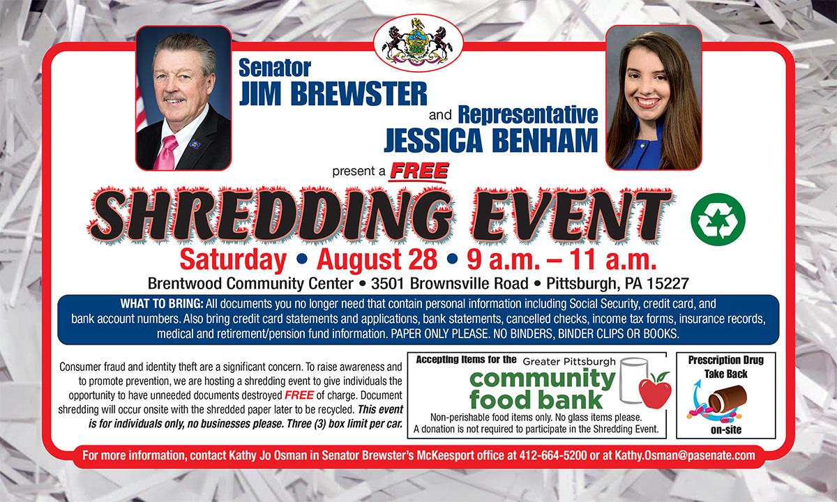 Shredding Event - August 28, 2021